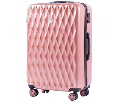 Поликарбонатный чемодан Wings Golden 190 средний розовый
