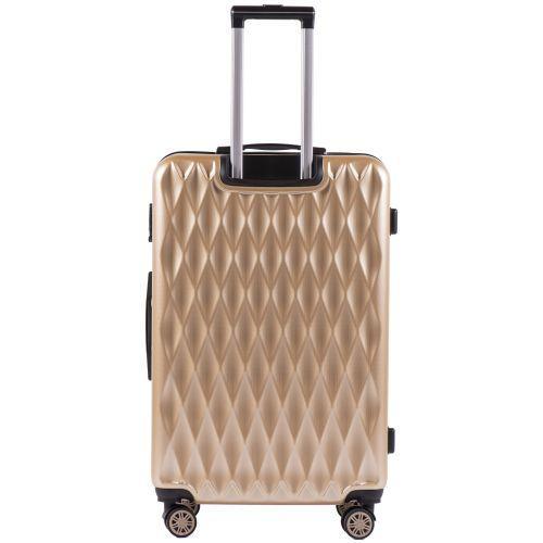Поликарбонатный чемодан Wings Golden 190 средний шампань