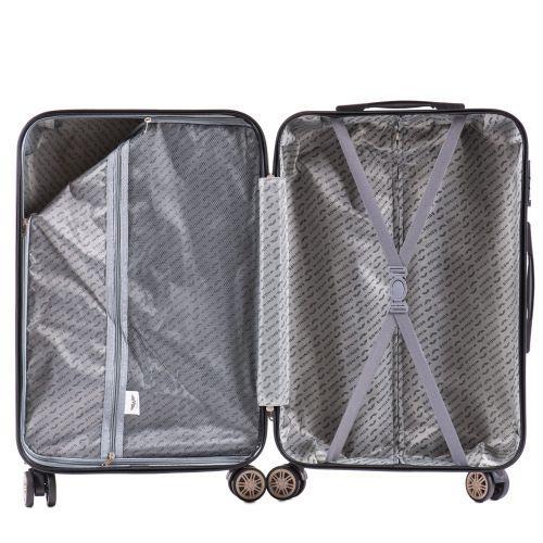 Поликарбонатный чемодан Wings Golden 190 средний изумрудный