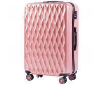 Поликарбонатный чемодан Wings Golden 190 большой розовый