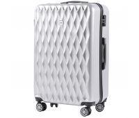 Поликарбонатный чемодан Wings Golden 190 большой серебряный