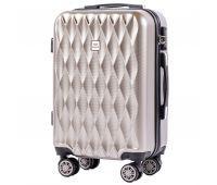 Поликарбонатный чемодан Wings Golden 190 маленький бронзовый