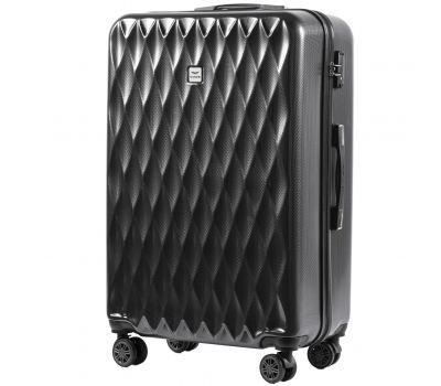 Поликарбонатный чемодан Wings Golden 190 средний серый