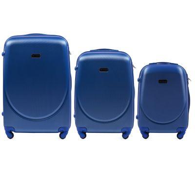 Комплект дорожных чемоданов на колесах Wings Goose 310K 3в1 middle blue