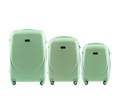 Комплект дорожных чемоданов на колесах Wings Goose 310K 3в1 мятный