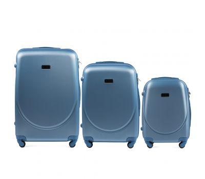 Комплект дорожных чемоданов на колесах Wings Goose 310K 3в1 silver blue