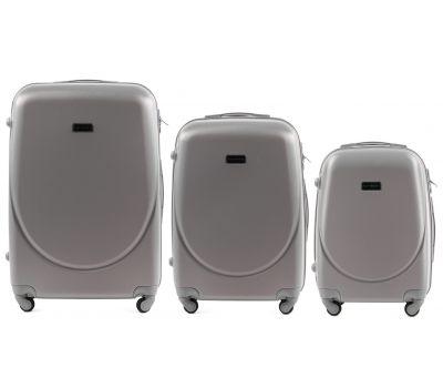 Комплект дорожных чемоданов на колесах Wings Goose 310K 3в1 серебряный