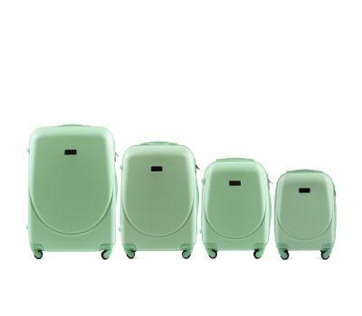 Комплект дорожных чемоданов на колесах Wings Goose 310K 4в1 мятный