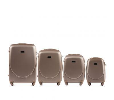 Комплект дорожных чемоданов на колесах Wings Goose 310K 4в1 шампань