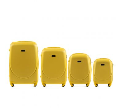 Комплект дорожных чемоданов на колесах Wings Goose 310K 4в1 желтый