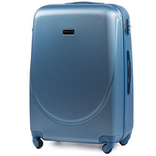 Дорожный чемодан на колесах Wings Goose 310K большой silver blue