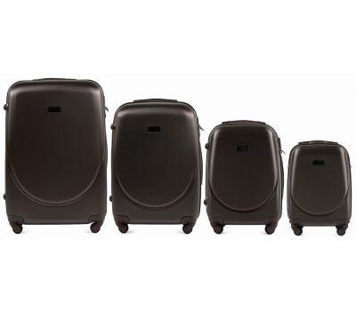 Комплект дорожных чемоданов на колесах Wings Goose 310K 4в1 кофейный