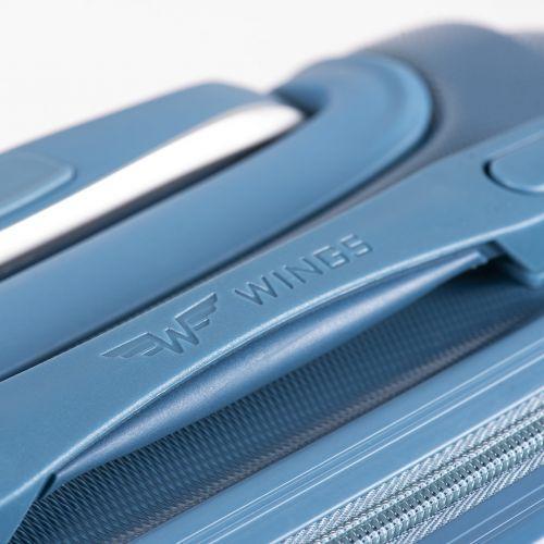 Дорожный чемодан на колесах Wings Goose 310K маленький серебряный