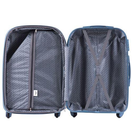 Дорожный чемодан на колесах Wings Goose 310K средний оранжевый