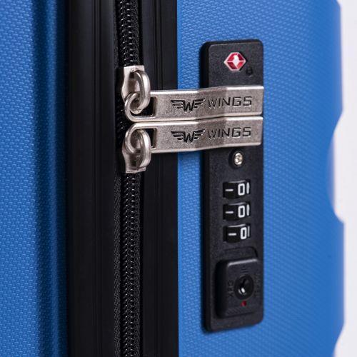Набор полипропиленовых чемоданов Wings Hawk PP07 штуки мятный