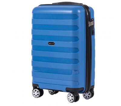 Полипропиленовый чемодан Wings Hawk PP07 маленький голубой