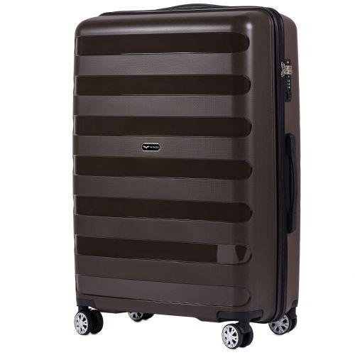 Набор полипропиленовых чемоданов Wings Hawk PP07 штуки кофейный