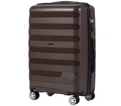 Полипропиленовый чемодан Wings Hawk PP07 средний кофейный