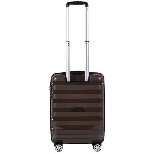Полипропиленовый чемодан Wings Hawk PP07 маленький кофейный