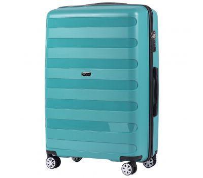 Полипропиленовый чемодан Wings Hawk PP07 большой мятный