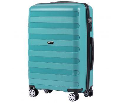Полипропиленовый чемодан Wings Hawk PP07 средний мятный