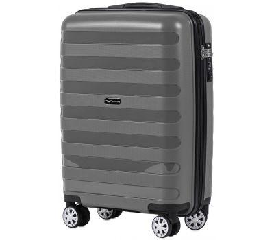 Полипропиленовый чемодан Wings Hawk PP07 маленький графит