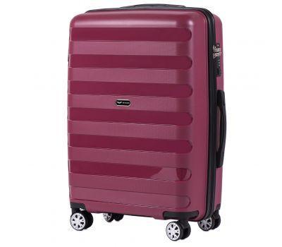 Полипропиленовый чемодан Wings Hawk PP07 средний бордовый