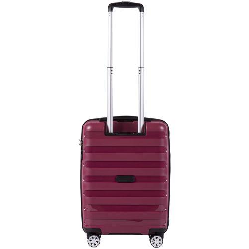 Полипропиленовый чемодан Wings Hawk PP07 маленький бордовый