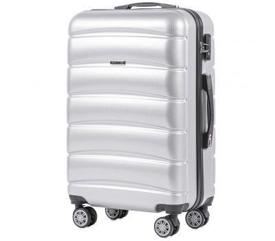 Поликарбонатный чемодан Wings Iberian 160 средний серебряный