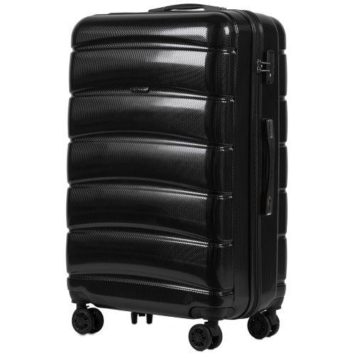 Набор чемоданов из поликарбоната Wings Iberian 160 3 штуки черный
