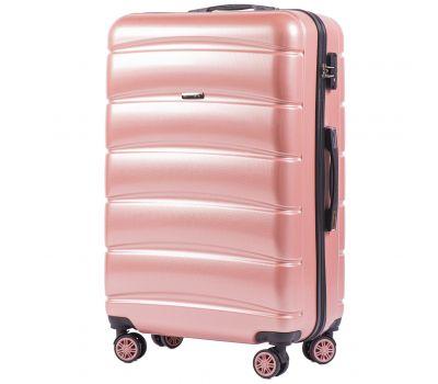 Поликарбонатный чемодан Wings Iberian 160 большой розовый