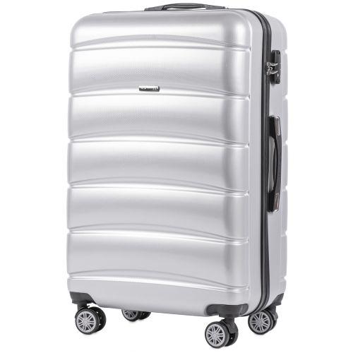 Набор чемоданов из поликарбоната Wings Iberian 160 3 штуки серебряный