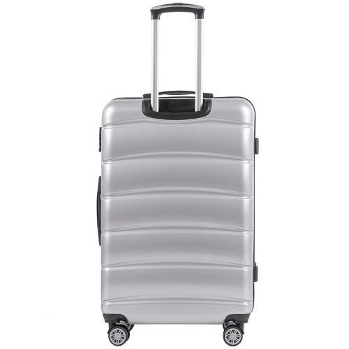 Поликарбонатный чемодан Wings Iberian 160 маленький серебряный