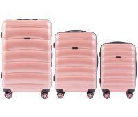 Набор чемоданов из поликарбоната Wings Iberian 160 3 штуки розовый