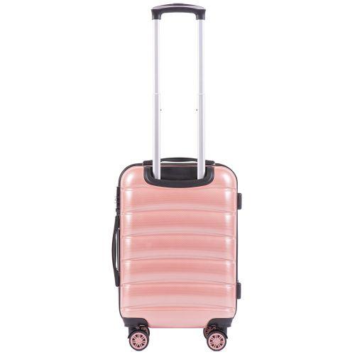 Поликарбонатный чемодан Wings Iberian 160 маленький розовый