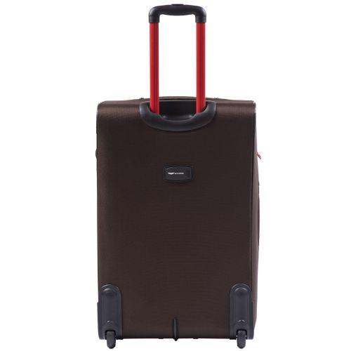 Мягкий чемодан Wings Junco 214 большой на 2-х колесах кофейный