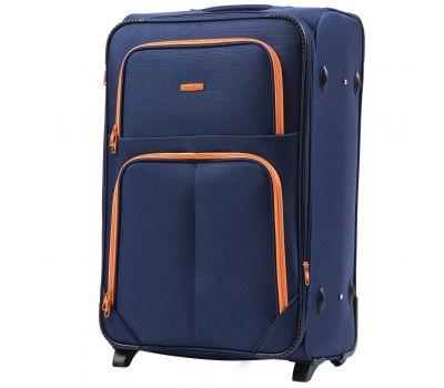 Мягкий чемодан Wings Junco 214 большой на 2-х колесах синий