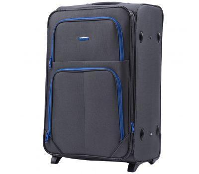 Мягкий чемодан Wings Junco 214 большой на 2-х колесах серый