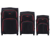 Набор мягких чемоданов Wings Junco 214 3 штуки на 2-х колесах черный