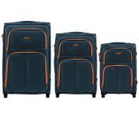 Набор мягких чемоданов Wings Junco 214 3 штуки на 2-х колесах зеленый