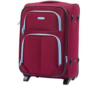 Мягкий чемодан Wings Junco 214 маленький на 2-х колесах бордовый