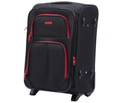 Мягкий чемодан Wings Junco 214 маленький на 2-х колесах черный