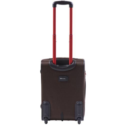 Мягкий чемодан Wings Junco 214 маленький на 2-х колесах кофейный