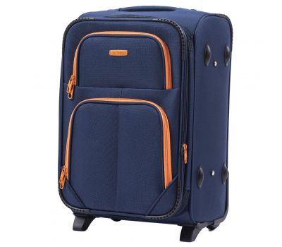 Мягкий чемодан Wings Junco 214 маленький на 2-х колесах синий
