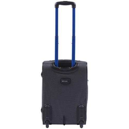 Мягкий чемодан Wings Junco 214 маленький на 2-х колесах серый