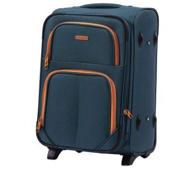 Мягкий чемодан Wings Junco 214 маленький на 2-х колесах зеленый