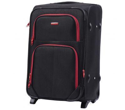 Мягкий чемодан Wings Junco 214 средний на 2-х колесах черный