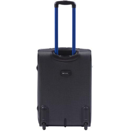 Мягкий чемодан Wings Junco 214 средний на 2-х колесах серый