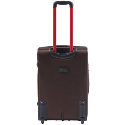 Мягкий чемодан Wings Junco 214 средний на 2-х колесах кофейный