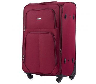 Тканевый чемодан Wings Junco 214 большой на 4 колесах бордовый